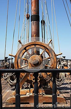 Free Ship S Helm Stock Image - 1475461