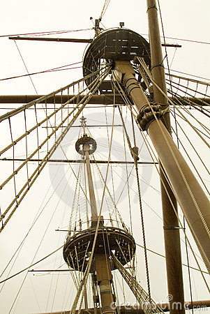 Free Ship�s Masts And Rigging Royalty Free Stock Image - 8308236