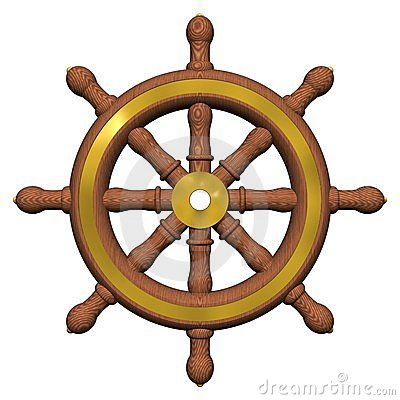 Free Ship S Wheel Royalty Free Stock Photos - 4122438
