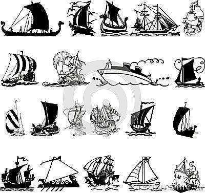 Ship silhouette 3 (+ )