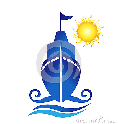 Ship sun waves logo