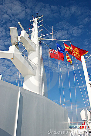 Ship Tower with Flags