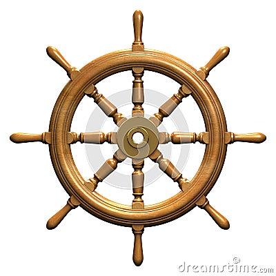 Free Ship Wheel Royalty Free Stock Images - 931079