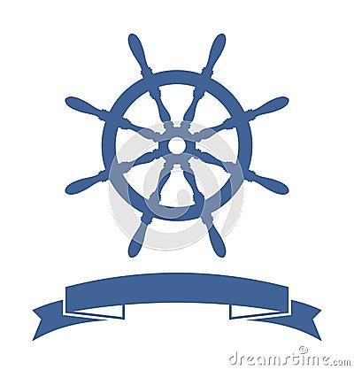Free Ship Wheel Banner Stock Photo - 32899220