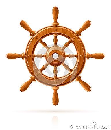 Free Ship Wheel Marine Wooden Vintage Stock Photography - 22507792