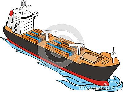 Ship witn cargo