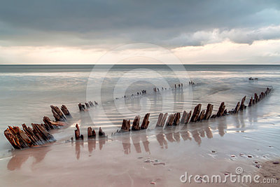 The ship wreck on the irish beach