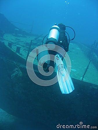 Ship wreck scuba diver boracay philippines