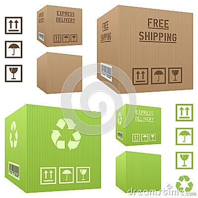 Shipment Cardboard Boxes Set