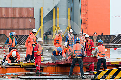 Shipment of oil rig module from Thailand to Norway Editorial Stock Image
