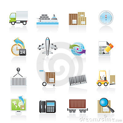 Free Shipping And Logistics Icons Stock Images - 23830044