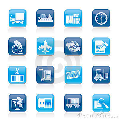Free Shipping And Logistics Icons Royalty Free Stock Photos - 24042328