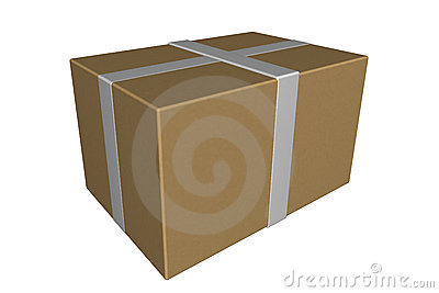 Shipping box package