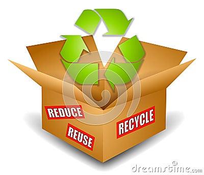 Shipping Box Recycling Symbol