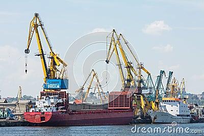 Shipping cargo boats Editorial Photo