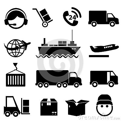Mr Car Shipper >> Shipping And Cargo Icon Set Stock Photography - Image ...