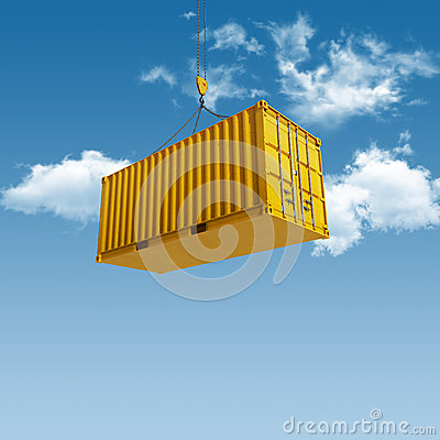Free Shipping Container Stock Image - 28175631