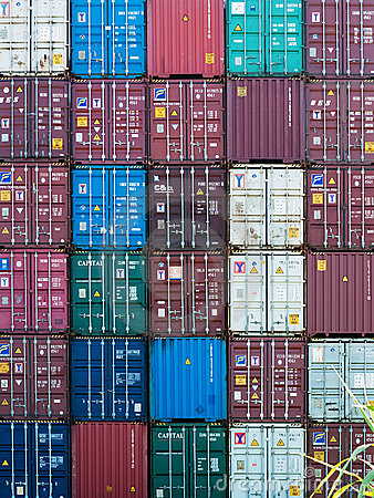 Shipping containers Editorial Image