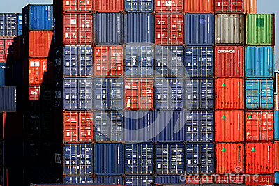 Shipping Containers Editorial Photography