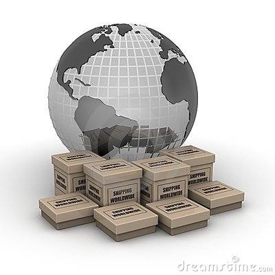 Free Shipping Worldwide Concept Royalty Free Stock Photos - 15417658