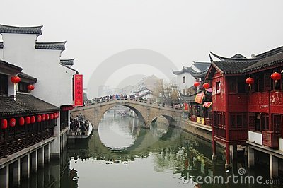 Shippo old town in Shanghai,China Editorial Photography