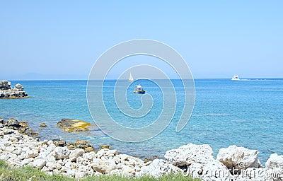 Ships in Aegean sea
