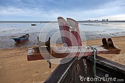 Ships on beach