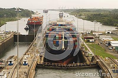 Ships Entering Panama Canal