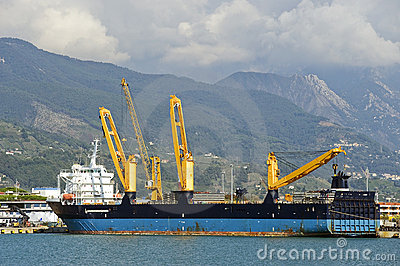 Ships on harbor