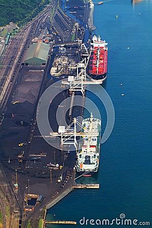 Ships loading coal