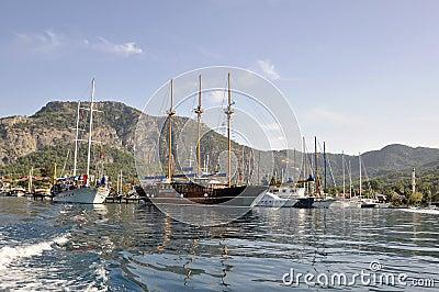 Ships in marina
