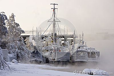 Ships at winter park