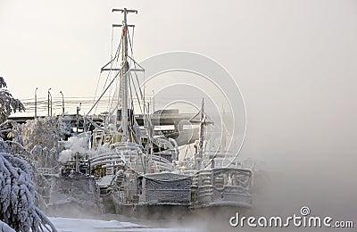 Ships at winter park