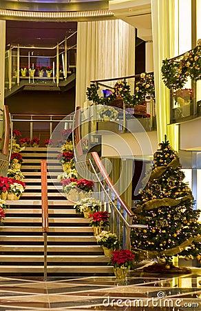 Ships Staircase at Christmas