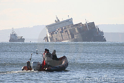 Shipwreck Editorial Stock Image