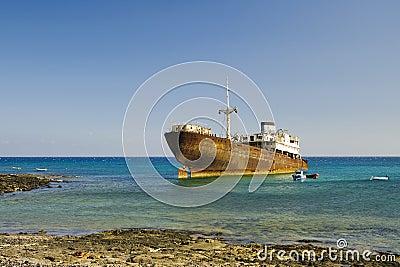 Shipwreck in Arrecife (Lanzarote)