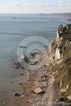 Shipwreck de Napoli Fotografia Editorial