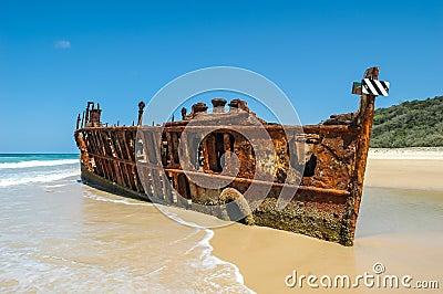 Shipwreck on Frazer Island, Australia
