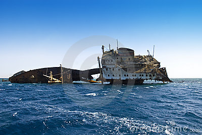 Shipwreck near Tiran Egypt