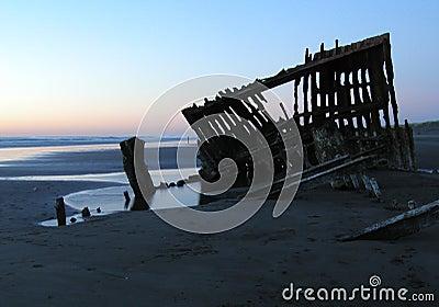 Shipwreck Silhouette 2 Stock Photo