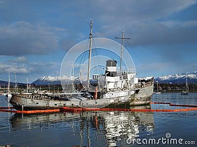 Shipwreck Ushuaia harbour