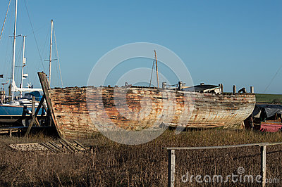 Shipwreck or very old boat