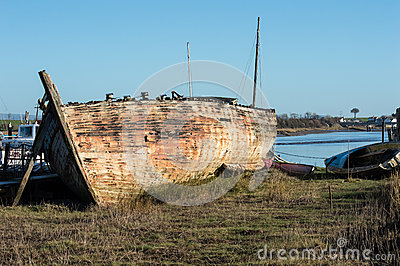 Shipwreck or very old boat Editorial Stock Photo