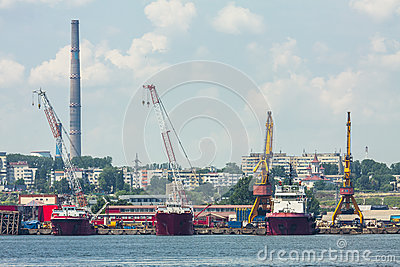 Shipyard Editorial Stock Photo