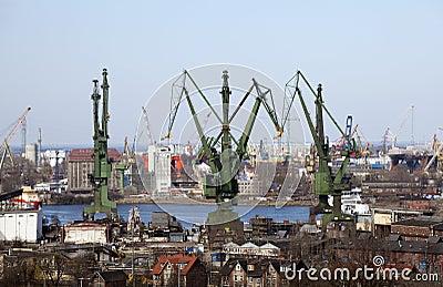 Shipyard in Gdansk, Poland Editorial Stock Photo