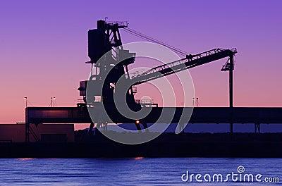 Shipyard silhouette