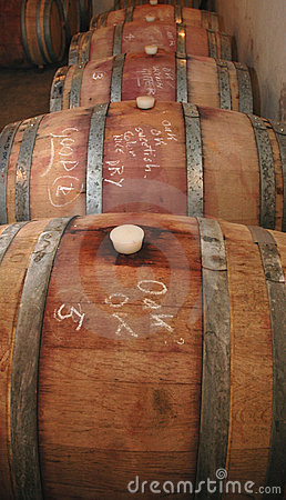 Shiraz Maturing In Oak Barrels Royalty Free Stock Photo - Image: 3252755