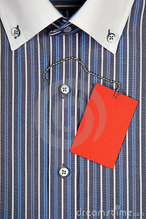Shirt with collar and label