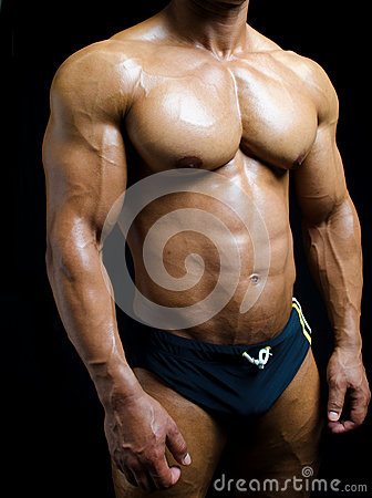 Shirtless Male Bodybuilder In Trunks, Really Muscular Body ...  Shirtless Male ...