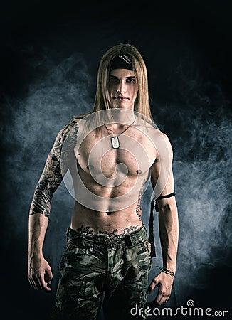 from Ryker gay muscular posing